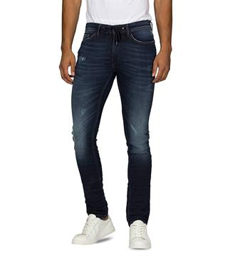 Purewhite Broeken The lenny w0025 Blue denim