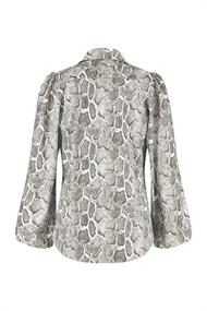 Studio Anneloes Lange mouw blouses Bodil cobra leather blouse