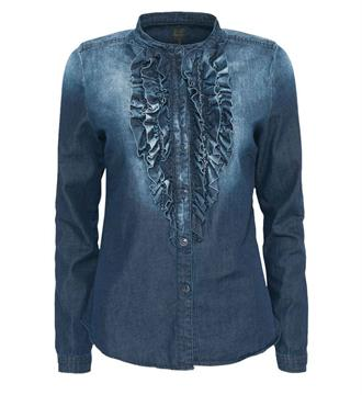 Summum Lange mouw blouses 2s1894-10386bd Blue denim
