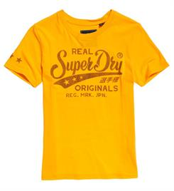 Superdry Korte mouw T-shirts W1000021a Geel