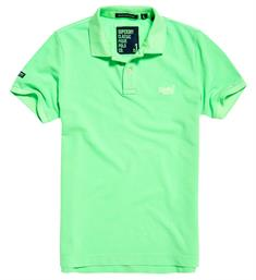 Superdry Polo's M11009tqf5 Neon groen