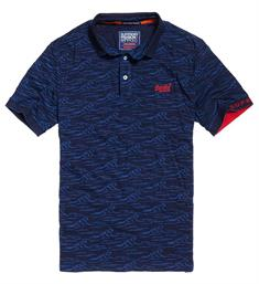 Superdry Polo's M11019tqds Blauw dessin