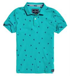 Superdry Polo's M11200ru Aqua