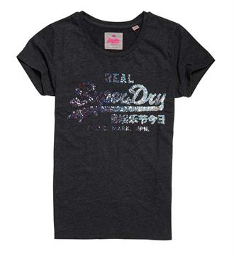 Superdry T-shirts G10019xp Antraciet