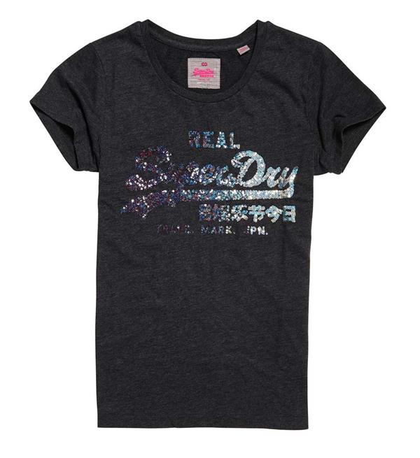 superdry-t-shirts-g10019xp-antraciet