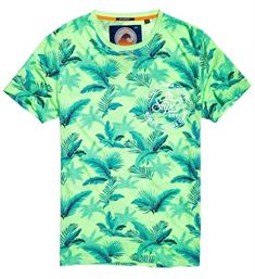 Superdry T-shirts M10001hq Groen dessin