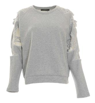 Supertrash Sweaters Cw17m146 taffic Grijs melee