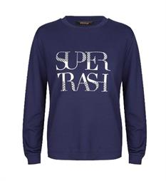 Supertrash Sweaters Cw17m178 topper Blauw
