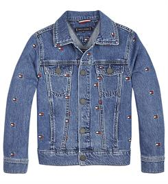 Tommy Hilfiger Denim jackets Ks0ks00081 oversized trucker Blauw
