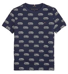 Tommy Hilfiger Korte mouw T-shirts Kb0kb04995 all over print Navy