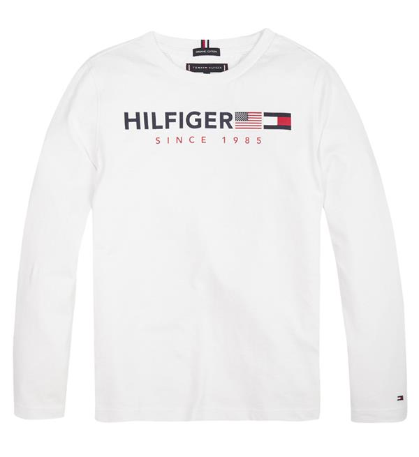 tommy-hilfiger-lange-mouw-t-shirts-kb0kb04997-flags-graphic-wit