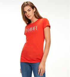 Tommy Jeans Korte mouw T-shirts Dw0dw06453 Rood