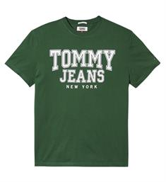 Tommy Jeans T-shirts Dm0dm05113 Donkergroen