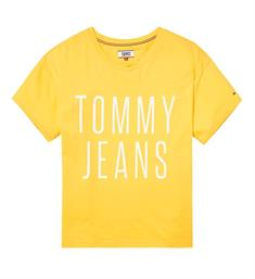 Tommy Jeans T-shirts Dw0dw04068 Geel