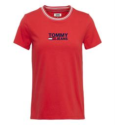Tommy Jeans T-shirts Dw0dw06216 Rood