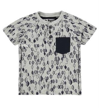 Tumble 'n Dry T-shirts Bealey Grijs melee dessin