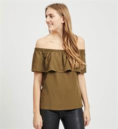 Vila Korte mouw T-shirts 14051661 viamona off shoulder Army