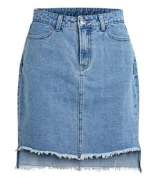 Vila Korte rokken 14046720 vijule Light blue denim