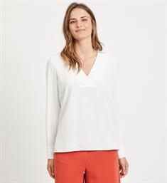 Vila Tops 14053269 vilaia ls v-neck Off-white
