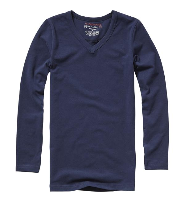 vingino-t-shirts-boys-ls-v-neck-navy