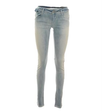 Zhrill Skinny jeans Mia strip w7082 Blue denim